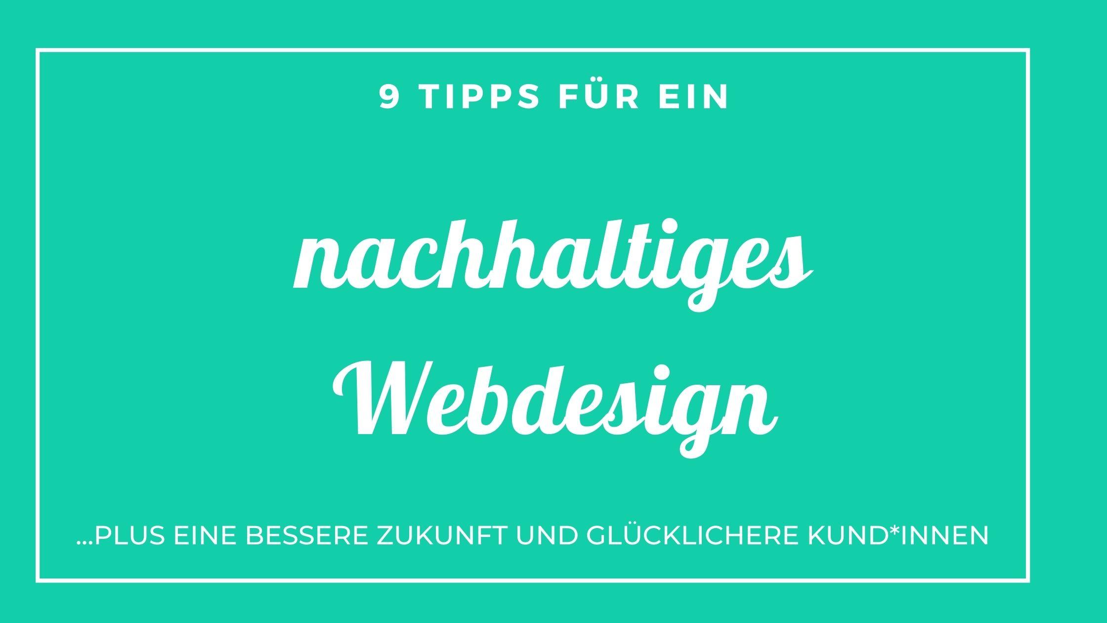 nachhaltiges-Webdesign - 9 Tipps